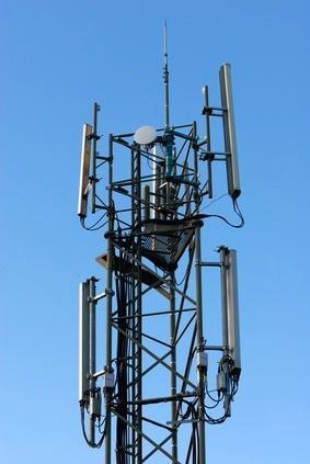 Un pylône soutenant une antenne relais de téléphonie mobile.